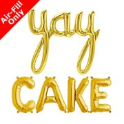 YAY CAKE - 16 inch Gold Foil Letters & Script Pack (1)