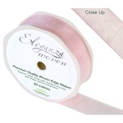 Light Pink Woven Edge Ribbon - 25mm x 20m (1)