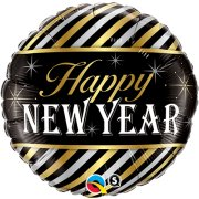 18 inch New Year Stripes Foil Balloon (1)