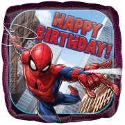 18 inch Spider-Man Birthday Square Foil Balloon (1)