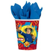 Fireman Sam Red Paper Cups (8)