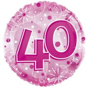 24 inch Pink Age 40 Clearview Balloon (1)