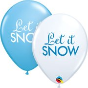 11 inch Simply Let it Snow Blue & White Latex Balloons (25)