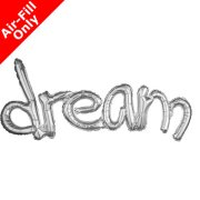 37 inch Dream Silver Freestyle Phrase Balloon (1)