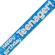 Teenager Birthday Blue Banner - 2.7m (1)