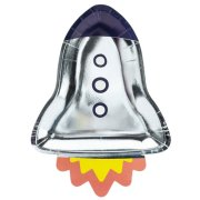 Space Party Rocket Paper Plates (6)