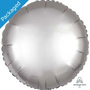 "18"" Platinum Satin Round Foil Balloon (1)"