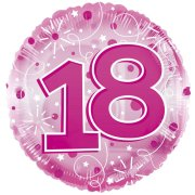 24 inch Pink Age 18 Clearview Balloon (1)