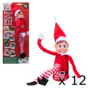 12 inch Bend & Pose Red Girl Elf Figures (12)