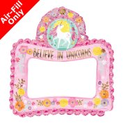 Magical Unicorn Inflatable Selfie Frame Foil Balloon (1)