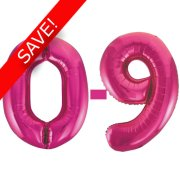 34 inch Unique Magenta Numbers Starter Kit - 36 Balloons