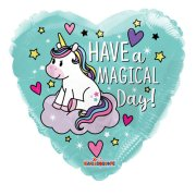 18 inch Have a Magical Day Unicorn Heart Foil Balloon (1)