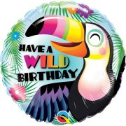 18 inch Have a Wild Birthday Toucan Foil Balloon (1)