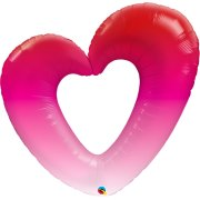 42 inch Pink Ombre Heart Foil Balloon (1)