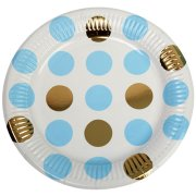 Pattern Works Blue Dots Paper Plates (8)
