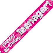 Teenager Birthday Pink Banner - 2.7m (1)
