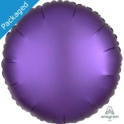"18"" Purple Royale Satin Round Foil Balloon (1)"