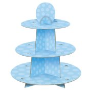 Blue Dot Cupcake Stand (1)