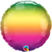 18 inch Vibrant Ombre Foil Balloon (1) - UNPACKAGED