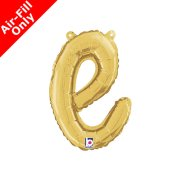 Air-Fill Gold Script Letter E Foil Balloon (1)