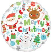 18 inch Merry Christmas Icons Foil Balloon (1)