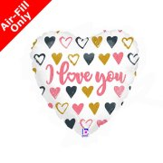 9 inch I Love You Rose Gold Foil Balloon (1) - UNPACKAGED