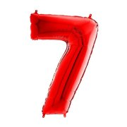 26 inch Red Number 7 Foil Balloon (1)