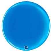 "15"" Globe Blue Foil Balloon (1) - UNPACKAGED"