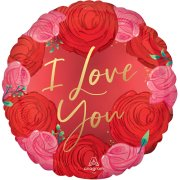 18 inch Circled In Roses Satin Foil Balloon (1)