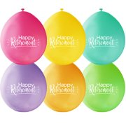 9 inch Happy Retirement Neck Up Assortment Latex Balloons (10)