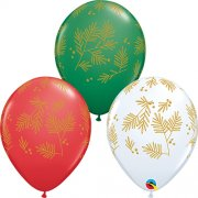 11 inch Contemporary Evergreen Assorted Latex Balloons (25)