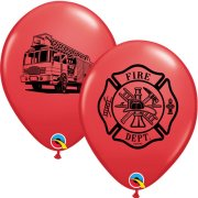 11 inch Fire Department Latex Balloons (25)