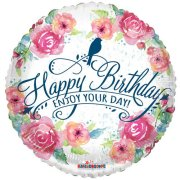 18 inch Happy Birthday Watercolour Foil Balloon (1)