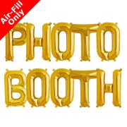 PHOTO BOOTH - 16 inch Gold Foil Letter Balloon Pack (1)