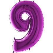 40 inch Purple Number 9 Foil Balloon (1)