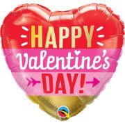 18 inch Valentine's Day Arrow Stripes Foil Balloon (1)