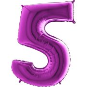 40 inch Purple Number 5 Foil Balloon (1)
