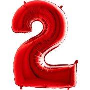 40 inch Red Number 2 Foil Balloon (1)