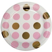 Pattern Works Pink Dots Paper Plates (8)