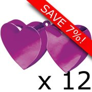 Box of 170g Magenta Double Heart Weight (12)