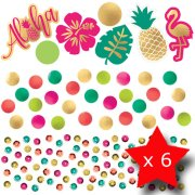 Pack of 6 Aloha Triple Confetti Pack (6)