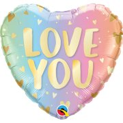 18 inch Love You Pastel Ombre Heart Foil Balloon (1)