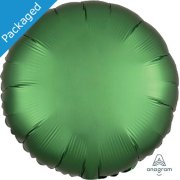"18"" Emerald Satin Round Foil Balloon (1)"