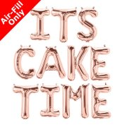 ITS CAKE TIME - 16 inch Rose Gold Foil Letter Balloon Pack (1)