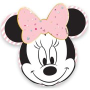 Minnie Mouse Party Gem Shaped Paper Plates (4)