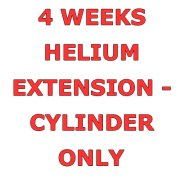 4 Weeks Helium Hire Extension - Cylinder Only