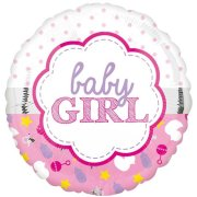 18 inch Baby Girl Scallop Foil Balloon (1)