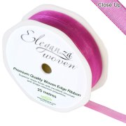 Fuchsia Woven Edge Ribbon - 10mm x 20m (1)