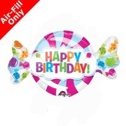 14 inch Sweetshop Birthday Foil Balloon (1) - UNPACKAGED