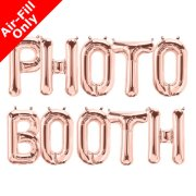PHOTO BOOTH - 16 inch Rose Gold Foil Letter Balloon Pack (1)